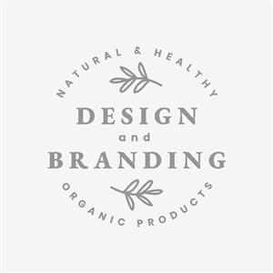 植物標志圖標化妝品logo設計素材