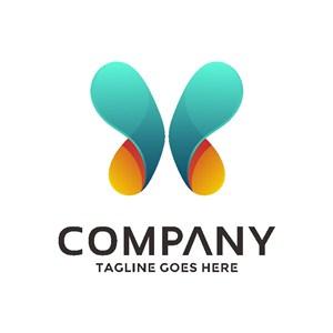蝴蝶素材商務公司logo設計