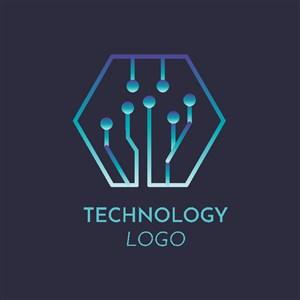 科技感企業公司logo設計素材