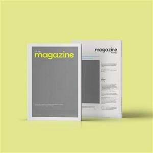 豎立的雜志期刊貼圖樣機