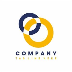 两个圆圈图标企业logo设计素材