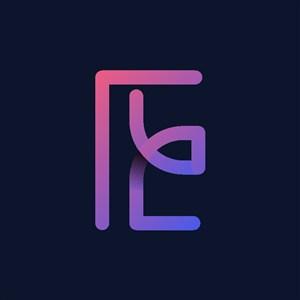 炫彩字母E圖標logo素材
