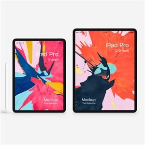 iPad Pro贴图样机模板