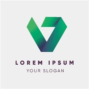 綠色漸變公司logo設計企業標志設計