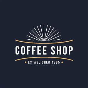 咖啡店矢量logo設計模板