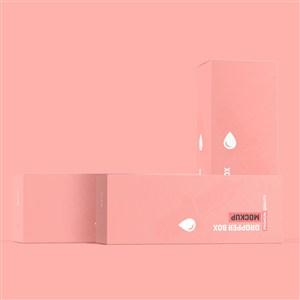 粉色纸盒化妆品护肤品包装盒样机模板