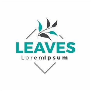 樹葉圖標矢量logo設計