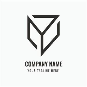 建筑公司圖標矢量logo設計素材