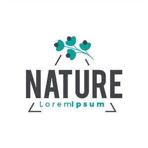 純天然護膚品品牌logo設計素材