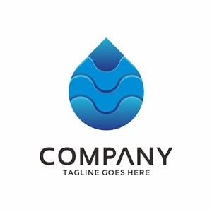 水滴图标环保logo设计素材