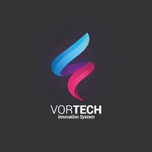 抽象漸變矢量圖標科技公司logo設計素材