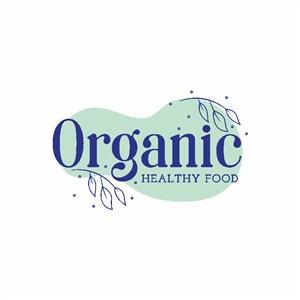 有机食品矢量logo设计