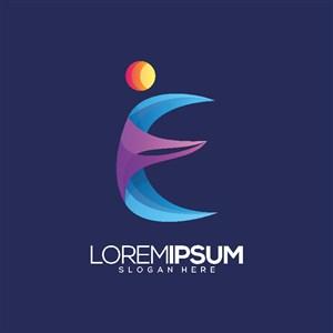 教育培训机构矢量logo设计素材