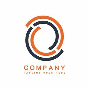 弧線圖標貿易公司矢量logo素材