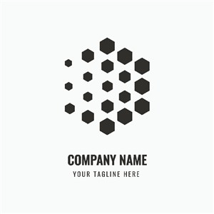 立體幾何體圖標網絡科技公司矢量logo素材