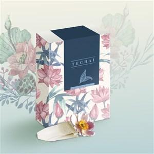 紙盒化妝品護膚品包裝盒貼圖樣機
