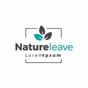 簡單的自然系列護膚品矢量logo平設計模板