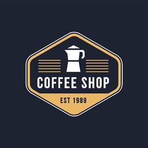 咖啡机图标咖啡店矢量logo设计素材