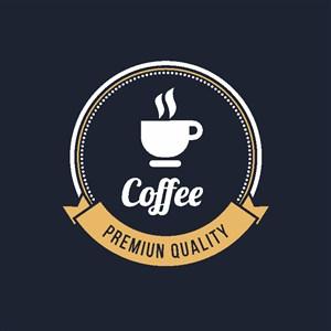 咖啡店标志设计logo素材