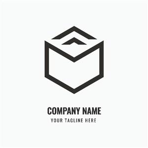 幾何立體圖標家居地產矢量logo設計素材