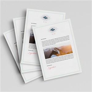 A4紙張業務文檔貼圖樣機