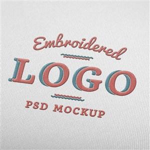 刺繡效果logo貼圖樣機