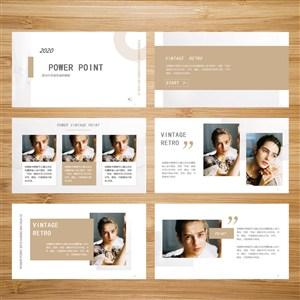 簡潔灰色商務畫冊模板.pptx