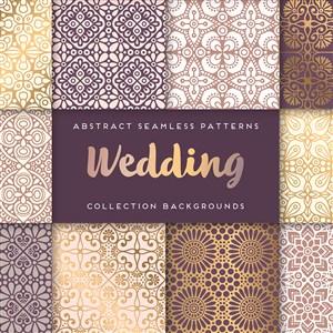 婚慶婚禮奢華歐式花紋素材
