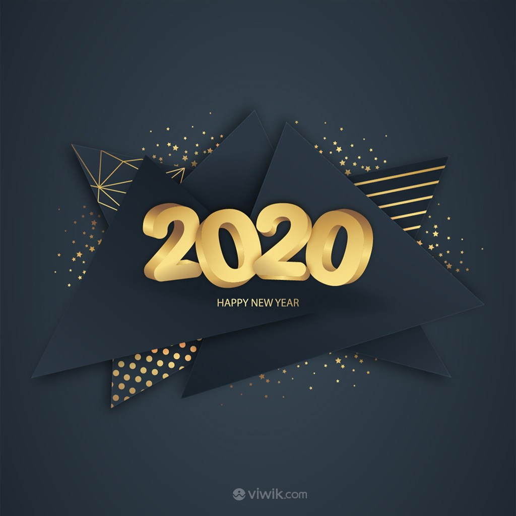 2020立体字矢量海报素材背景