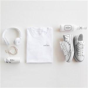 服裝品牌vi帆布鞋T恤樣機