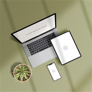 小清新桌面電腦平板手機樣機