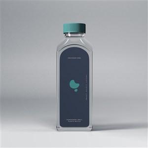 透明塑料瓶饮料瓶矿泉水瓶贴图样机