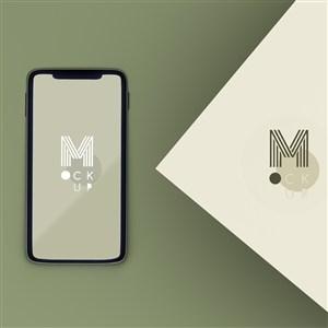 手機貼圖樣機與產品logo
