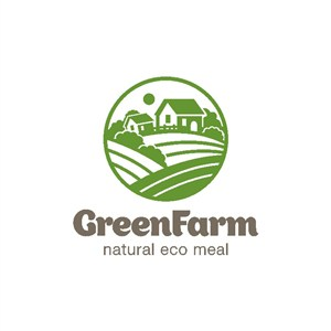 农场图标绿色食品矢量logo设计素材
