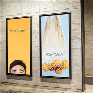室内灯箱广告贴图样机
