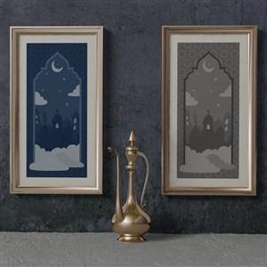 穆斯林斋月画框贴图样机