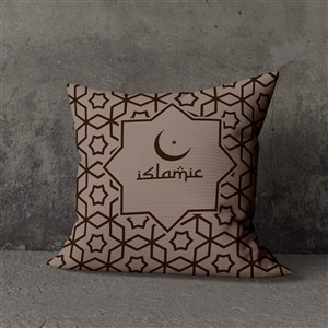 穆斯林风格抱枕靠背贴图样机