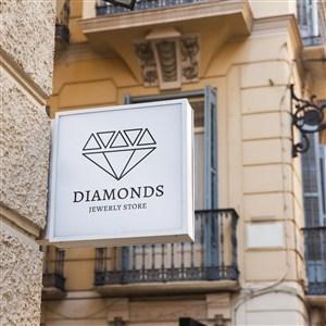 珠寶品牌店招貼圖樣機