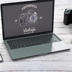 筆記本電腦貼圖樣機