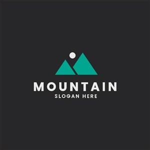 山太陽標志圖標logo設計素材