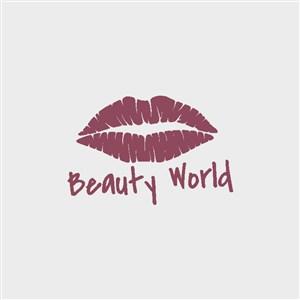 嘴唇标志图标口红logo素材