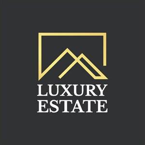 金色建筑图标房地产logo手机素材