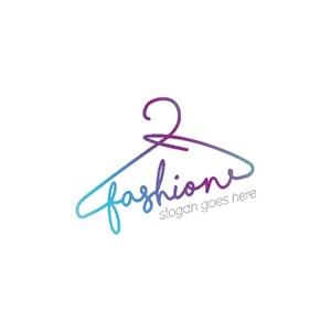 衣架与字母组合标志图标服装品牌logo设计素材