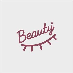 睫毛字母标志化妆品logo