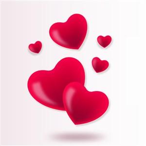 情人节心形图案矢量素材