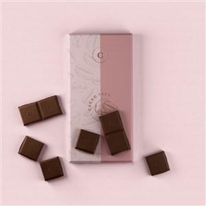 巧克力塑料袋包装贴图样机