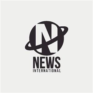 星球N组成的标志图标金融机构logo设计