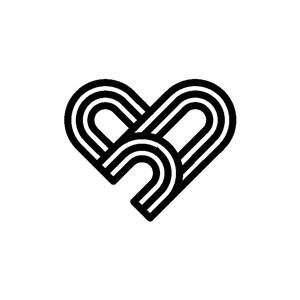 线条组成的爱心标志图标矢量logo设计素材