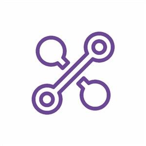 紫色抽象图标电子机械企业标志