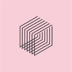 線條幾何圖案建筑logo素材